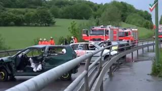NRWspot.de | 25 zum Teil Schwerstverletzte bei schwerem Verkehrsunfall in Hagen – Großübung