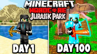 I Survived 100 Days in Hardcore Jurassic Park Minecraft.. Here's What Happened..