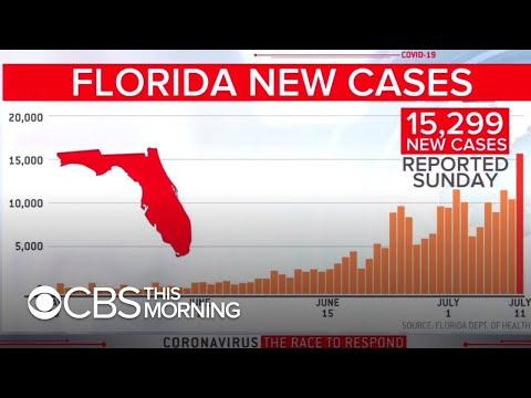 Florida breaks U.S. record for new coronavirus cases in a single day