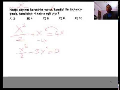 Denklem Kurma Problemlerinin Çözümü Videosu Matematik Problemlerinin Temeli