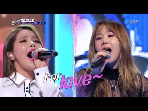 노래 싸움 승부 - 한 치 앞을 내다보기 힘든 치열한 승부 솔라·유성은의 '사미인곡'  .20161223