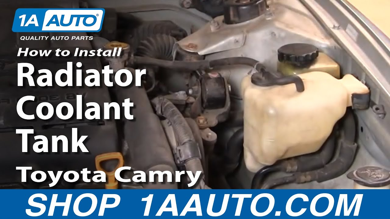 How To Install Replace Radiator Coolant Tank Toyota Camry