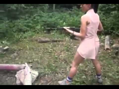 Girl Shoots AK-47 For The First Time And Almost Kills Boyfriend