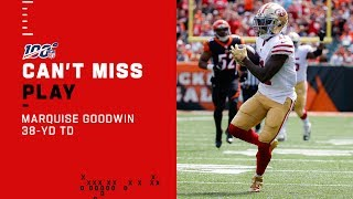 Marquise Goodwin Is WIDE OPEN for a 38-Yd TD
