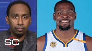 'The weakest move I've ever seen from a superstar' – Stephen A. on Kevin Durant to the Warriors