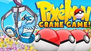 OVERPOWERED LEGENDARY POKEMON CRANE GAME CHALLENGE - MODDED MINECRAFT (PIXELMON)