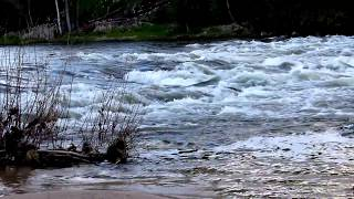Raging river flow