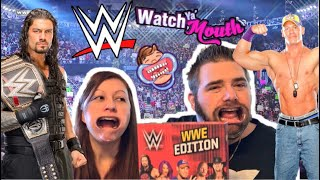 "CRINGE COUPLE PLAY WWE ""Watch Ya Mouth"" Party Game Night Challenge!"
