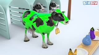 Learn Colors 3d cows for kids colors with animals for children toddlers