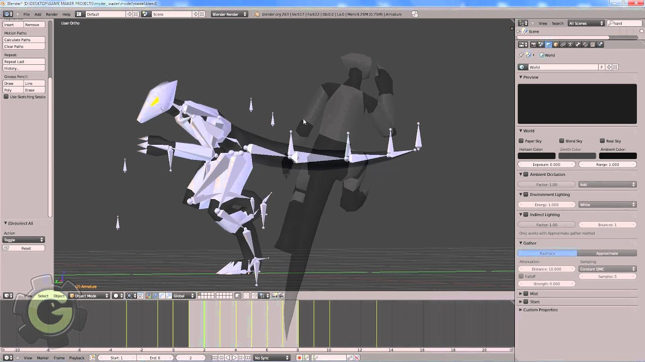 Game Maker 8: 3D Blender Animation Rig and model import ...