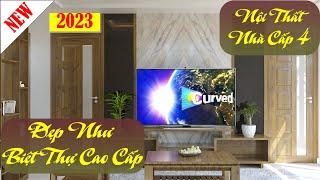 Thiết kế nội thất nhà cấp 4 gác lửng đẹp như biệt thự cao cấp YTND27