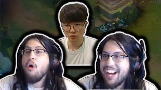IMAQTPIE HAS LOST IT AFTER THIS HAPPENED | FAKER REACTS TO INSANE NIDALEE | LOL MOMENTS