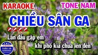 Chiều Sân Ga Karaoke Tone Nam Bm Nhạc Sống Dễ Hát   Karaoke Tuấn Cò