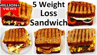 5 Weight Loss Sandwich Recipes In Hindi|Weight Loss Recipe In Hindi|Healthy Breakfast Ideas In Hindi