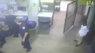 CCTV: Police officer saved by handcuffed teenager in Florida