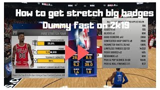 HOW TO GET PURE STRETCH BIG BADGES DUMMY FAST ON NBA2K19
