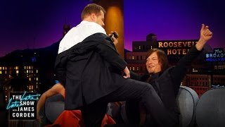 Norman Reedus Gets a Lap Dance