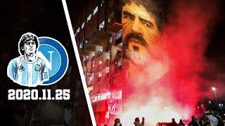 Morte Maradona   Tifosi Napoli Saluta - Omaggia Diego Maradona 25.11.2020