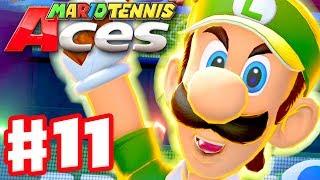 Mario Tennis Aces - Gameplay Walkthrough Part 11 - Luigi! Online Tournament! (Nintendo Switch)