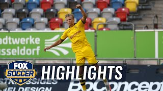 Haaland's late winner vs Düsseldorf keeps Dortmund's title hopes alive | 2020 Bundesliga Highlights