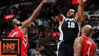 Houston Rockets vs San Antonio Spurs Full Game Highlights / April 1 / 2017-18 NBA Season
