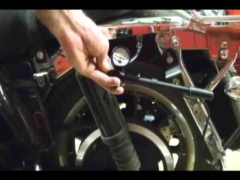 motorcycle repair adjusting the rear suspension air. Black Bedroom Furniture Sets. Home Design Ideas