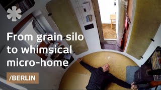 Old silo becomes spaceship-esque tiny home in Berlin