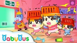 Run! Earthquake Happens in Supermarket   Kids Safety Tips    Baby Kitten Family   Kids Song  BabyBus