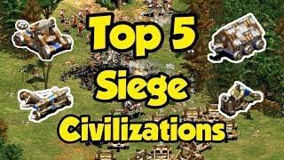Top 5 Siege Civilizations in AoE2
