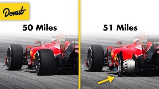 Why an F1 Tire only last 50 miles