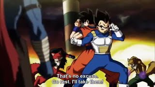 Goku & Vegeta Team Up Against Universe 9 Full Fight Dragonball super 98