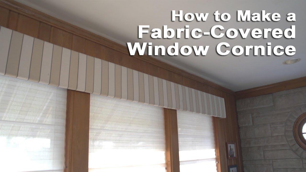 How to Make a Fabric-Covered Window Cornice - YouTube
