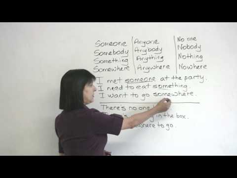 Common English Errors: Someone, Anyone, No one?