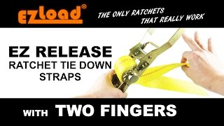 How to Use Best EZ Release Ratchet Cargo Lashing Tie Down Straps