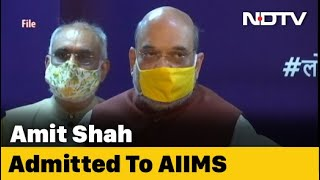 Union Home Minister Amit Shah admitted to Delhi's AIIMS ag..