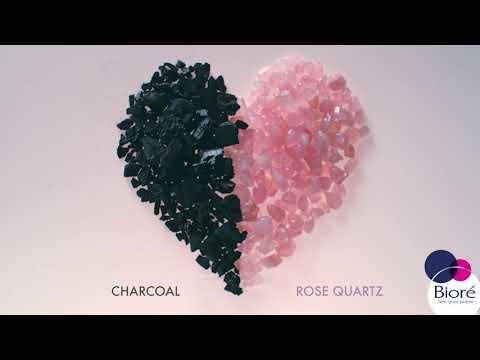 Dirt Out, Pore Love In with NEW! Bioré Rose Quartz + Charcoal Line