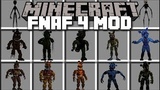Minecraft FNAF 4 MOD / FIGHT AND SURVIVE THE NIGHT WITH FNAF!! Minecraft