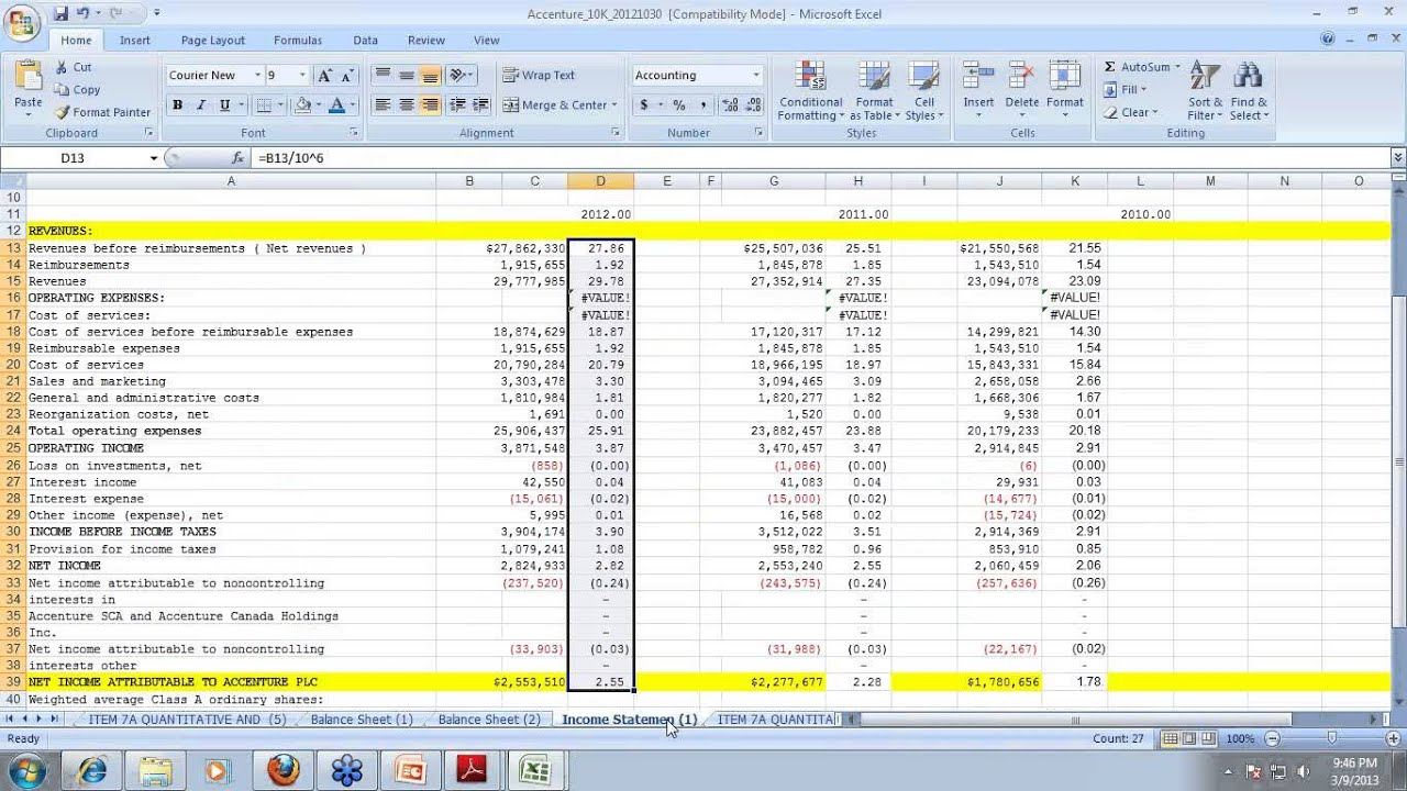 Financial Models In Excel Templates