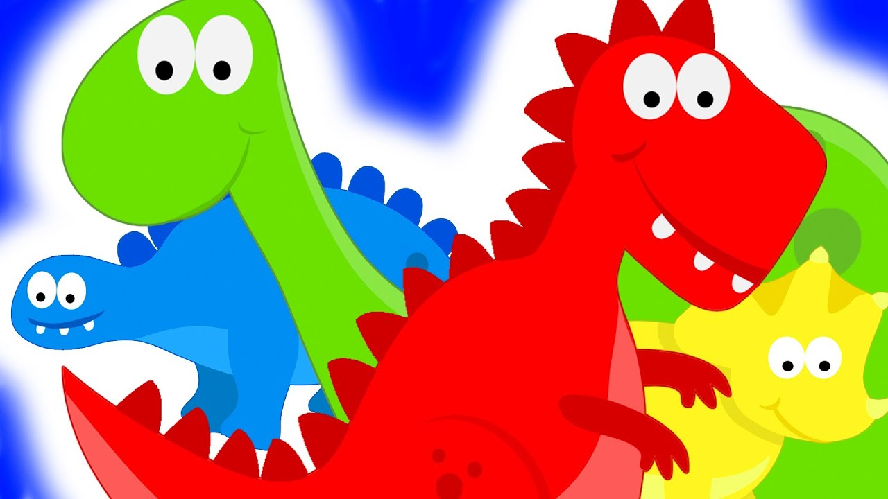 Dinosaurs Teaching Colors - Learning Colours Video for ...
