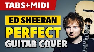 Ed Sheeran - Perfect Guitar Cover (Solo Fingerstyle Acoustic Guitar with TAB) [Tutorial]