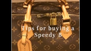 Tips for buying a Louis Vuitton Speedy B