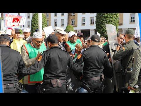 مواجهات بين الأمن وقدماء المحاربين أثناء احتجاجهم وسط الرباط