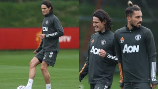 Edinson Cavani & Alex Telles Training Session With Manchester United!