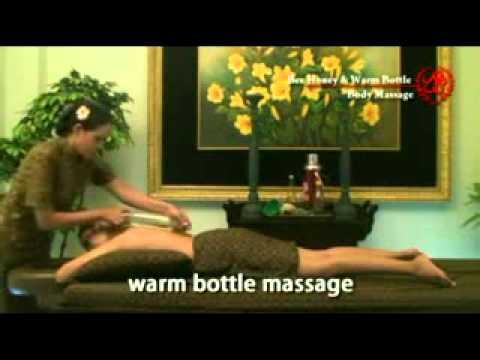Bee Honey and Warm Bottle Body Massage