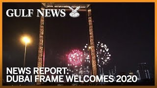 Dubai Frame welcomes 2020 with fireworks -