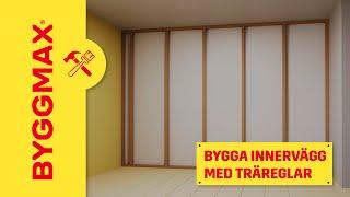 Byggmax tipsar, bygg innervägg (träreglar)