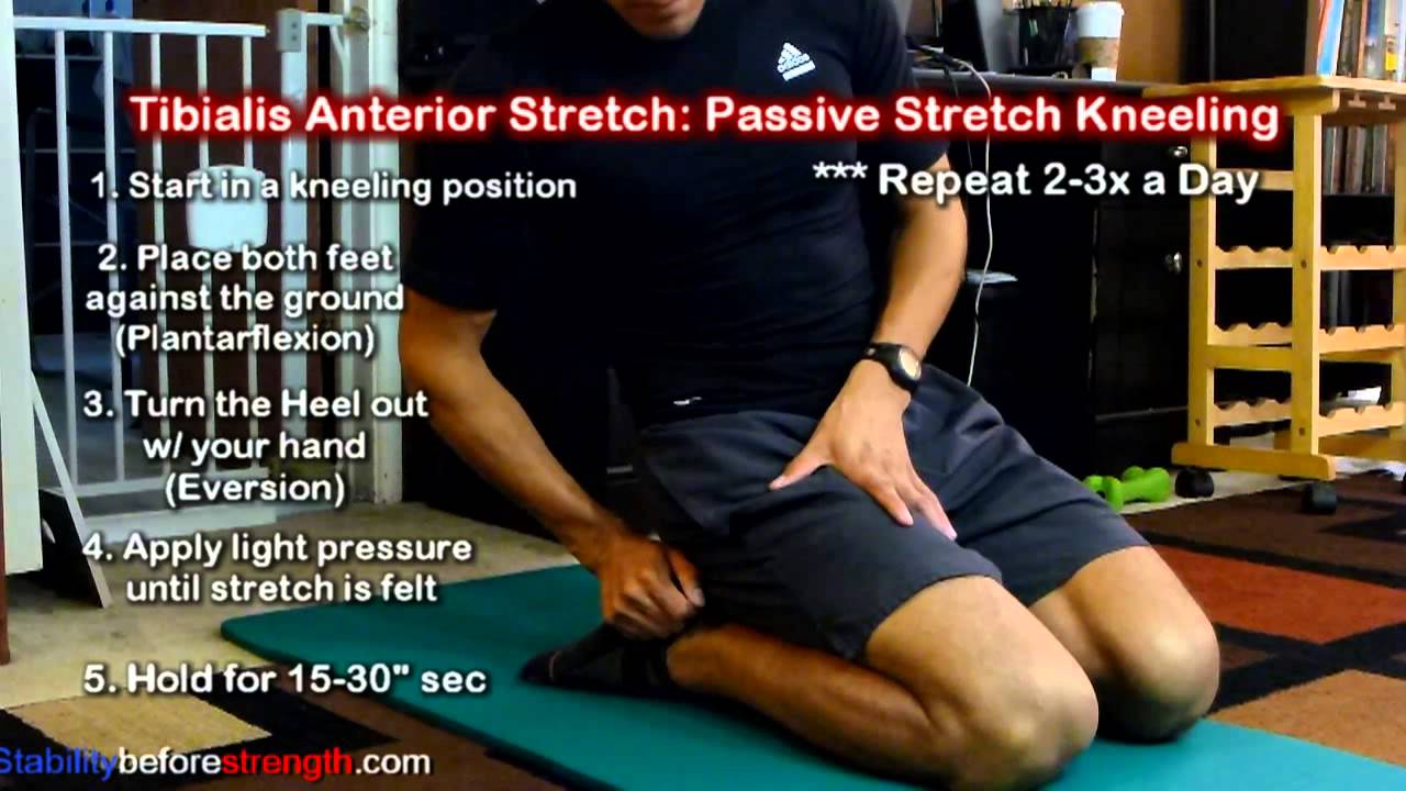 Tibialis Anterior Stretches: Passive Stretch for Tightness ...