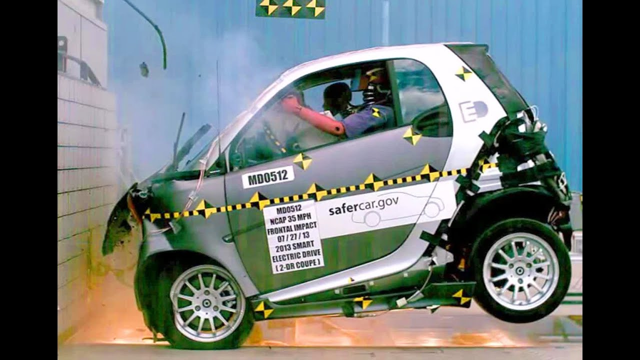 2013 smart fortwo electric drive frontal crash test by nhtsa crashnet1 youtube. Black Bedroom Furniture Sets. Home Design Ideas
