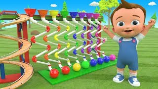 Little Baby Fun Learning Colors for Children with Color Balls ZigZag Pipes Wooden ToySet 3D Kids Edu - YouTube