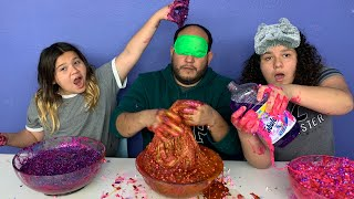 IZZY & MARY CHEATED!!! Blindfolded Slime Challenge!